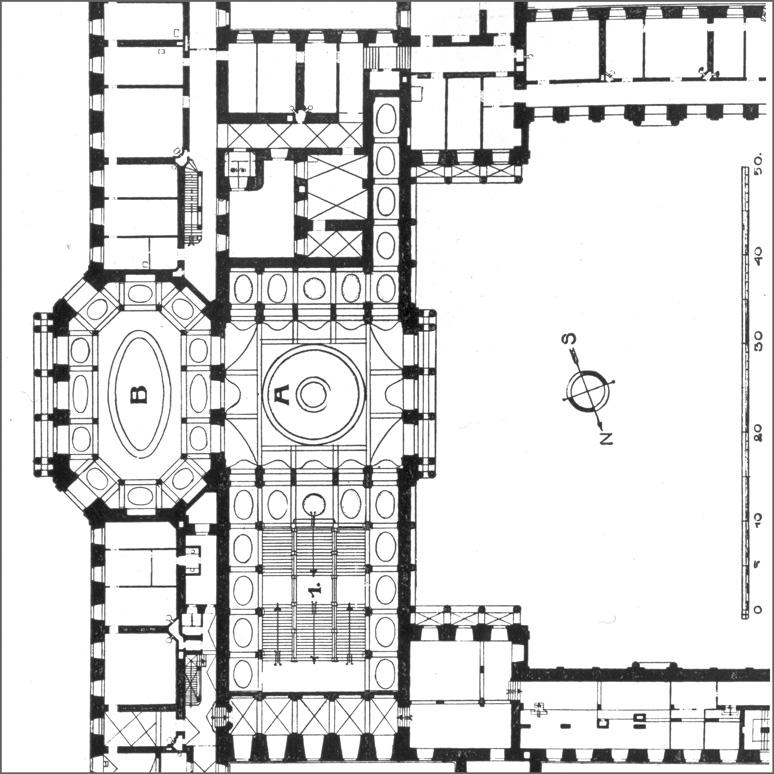 Treppenhaus technische zeichnung  Treppenhaus und Treppe im süddeutschen Barock